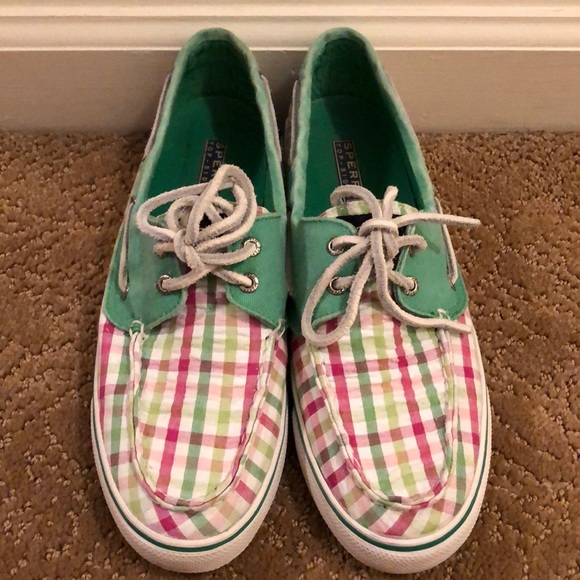 Sperry Shoes   Plaid Topsider   Poshmark